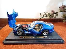 Miniatur Mobil BURAGO 1996 DODGE VIPER GTS COUPE made in Italy