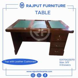 Top leather office table _ Office chairs and sofa r available also