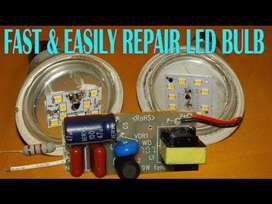 Led bulb repair 12 watt ( Rs.60 per bulb )