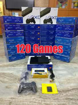 Sony Playstation 2 (Ps2) With 120 Games New Hard Disk & Accessories