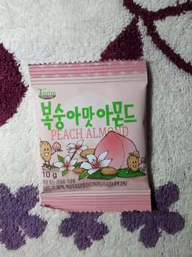 Makanan Korea/ Snack Korea/ Kacang Korea/ Peach Almond/ Honeybutter