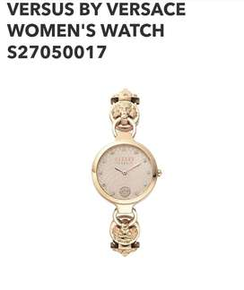 versus versace analog silver dial women's watch