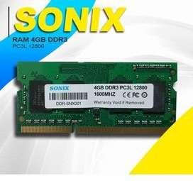 RAM SoDIMM SONIX DDR3 PC3L 12800 4GB, RAM Laptop DDR3 4GB