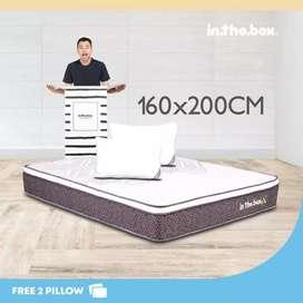 IntheBox - Kasur Spring Bed Inthebox X (Queen) 160 x 200 x 27 Cm Putih