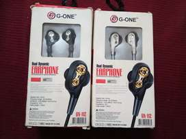 G-one Dual dynamic earphone 2021 New