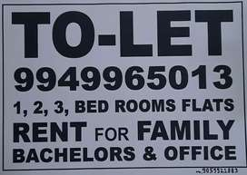 TO-LET 1 BHK, 2 BHK, 3 BHK, 4 BHK, Office space commercial for rent