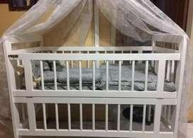 Baby box/box kayu Free Bumper Set & Kelambu
