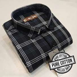 Premium Cotton Check Shirts For Men