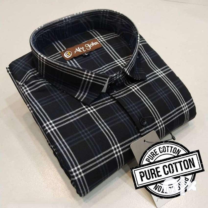 Premium Cotton Check Shirts For Men 0