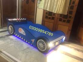 Brand new blue car shape bed 6 feet x 3 feet