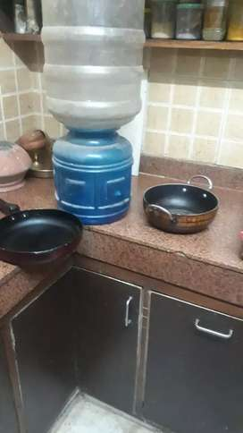 Water bottle set and two non sticky kadai