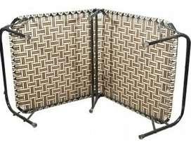3 metal foldable beds and nilkamal plastic chair for sale