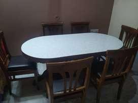 6 Seater Teakwood Dining table