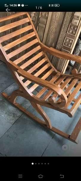 100% pure sagwan ..rocking chair ..