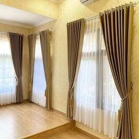 Gorden Curtain Blinds Gordyn Wallpaper Korden Tirai Hordeng 7.164fg