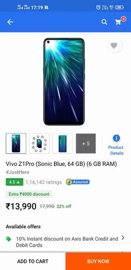 VIVO Z 1 PRO 6GB RAM,ONLY 10 DAYS OLD