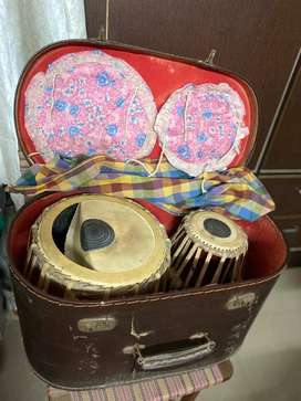 Used Tabla set with box for sale