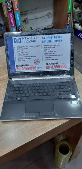 Kredit laptop HP 14 CF73AU Amd A4 9125-4GB-HDD 1TB Tanpa Kartu Kredit