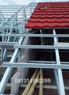 Rangka atap baja dan genteng pasiran