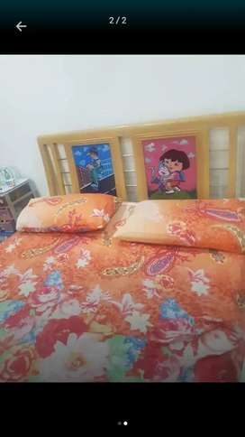 Kids Bed with two cartoon character with matress