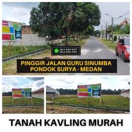 Tanah Kavling Murah Bisa Cicil 12 x - Pinggir Jalan Guru Sinumba Raya