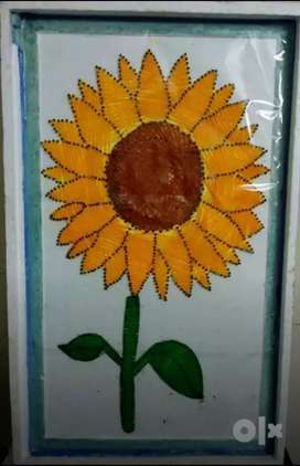 Sunflower string art