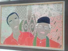 Bismillah, jual cpt lukisan batik payet tokoh presiden wapres RI kini