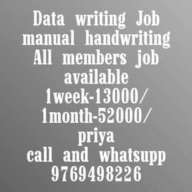 Hand writing Job New opening start