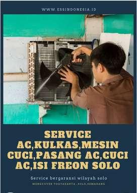 Service AC,Kulkas,Mesin cuci,Pasang AC,Cuci AC Isi Freon Solo