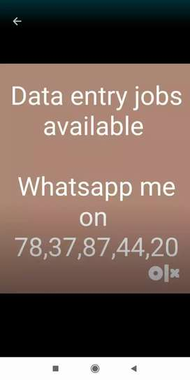 I m offering a job data, typing at home