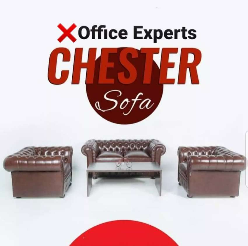 Chesterfield office sofa table 0
