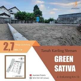 Tanah Premium Jl Kaliurang Cocok Bangun Rumah Tepi Aspal