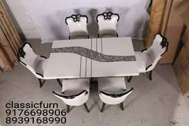brand newly designed marble dining table set