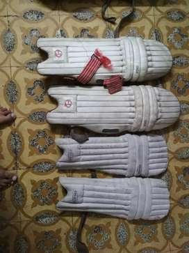 9 pairs cricket pad and a chest guard