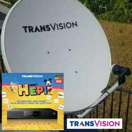 Parabola mini Transvision HD jernih terang