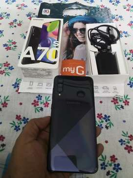 Galaxy A70s 128gb 6gb ram box piece