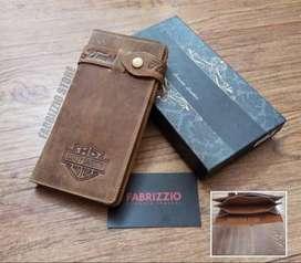 Dompet pria-dompet panjang kulit asli pria
