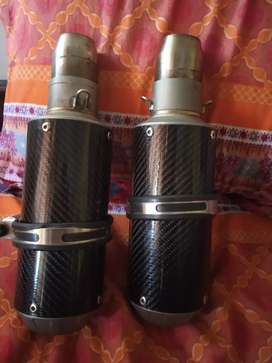 High quality exhausts for for twin or single cylinder