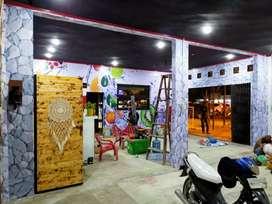 Wallpaper dinding parkit vertical blind Medan