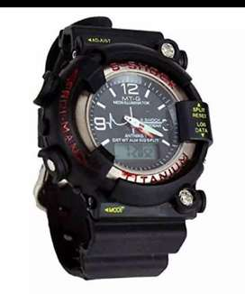 S shock titanium wrist watch