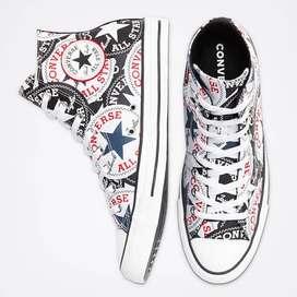 Sepatu Sneakers CONVERSE Chuck Taylor All Star Logo Graphic High Top B