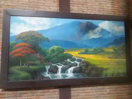 Lukisan karya pelukis senior Jogja cocok unt kantor ukran besar, murah
