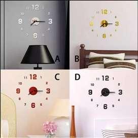 Jam dinding angka BK 3D modern minimalis