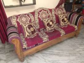 2 yrs old wooden sofa
