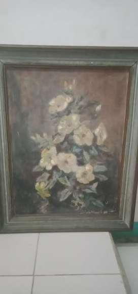 Dijual Lukisan karya Jupriani lebar 57 cm tinggi 72 cm
