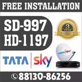 Tata sky setup box with installation