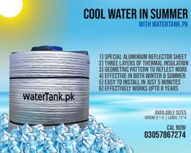 Water Tank Insulation, Cool Water in summer