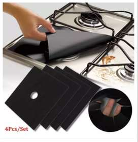 4 pcs/set Gas Stove Cooker Protectors Cover Clean Mat Pad Kitchen Item