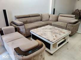 7-seater sofa (L-shape) in good condition