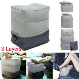 YMQY Bantal Angin Senderan Kaki Portable Inflatable Footrest Pillow